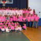 Students, faculty and family at Our Lady of Fatima School in Wilton came out in support of teacher Geri Galasso, who is battling breast cancer.