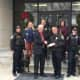Ashcroft Industries present the Stratford Police Department's K9 Unit with a $1,000 donation.
