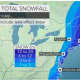 A look at snowfall projections released Thursday morning by AccuWeather.com.