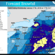 Snowfall projections by the National Weather Service.