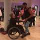 Rashad Jennings dances with Amanda Trott at HackensackUMC Fitness and Wellness Center in Maywood.