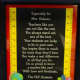 Students at Our Lady of Fatima School presented Geri Galasso with this framed poem.