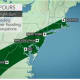 Downpours overnight Saturday into Sunday could cause flashing flood.
