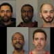 The five suspects busted during the execution of the warrant in Newburgh.