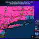 A Winter Storm Warning (shown in pink) is in effect for the entire tristate region.