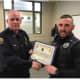 Officer Peter Schmidt was promoted to Master Police Officer.