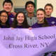 Proud students at John Jay High School, part of the Katonah-Lewisboro School District, ranked the state's best district.