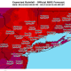 Projected rainfall amounts