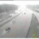 A look at conditions on southbound I-95 in Darien just after 9 a.m. Monday.
