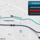 A map of the planned detour near the new Tappan Zee Bridge.