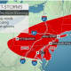 The Hudson Valley is at the center of the area expected to be slammed with severe storms Tuesday afternoon and Tuesday evening.