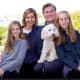 Steve Obsitnik of Westport, a Republican Party candidate for governor, with his wife and teenage daughters.