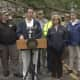 New York Gov. Andrew Cuomo in Putnam Valley declaring the State of Emergency.