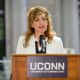 University of Connecticut President Susan Herbst announced last month that she will step down next year after eight years. Herbst's university -- UConn -- is ranked as one of the world's best universities and 75th best nationwide.