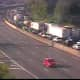 Gridlock on southbound I-87 in Rockland early Friday morning.
