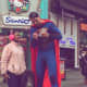 Robbie DeRaffele of Hackensack works as Superman by day in Times Square.