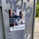 The flyers posted by Identity Evropa in Croton-on-Hudson.