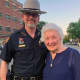 Putnam County Sheriff Robert L. Langley Jr. with Maureen Durkin, who said she has been coming to the annual Brewster Fire Department Parade for the past 63 years.