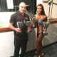 Del Corso with client Christina DiBella of Hillsdale, an East Coast and multi-class champion.
