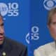 Gov. Andrew Cuomo and Democratic challenger Cynthia Nixon during s primary debate on WCBS-TV.