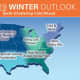 The winter outlook by the Farmers' Almanac.