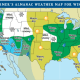 The winter weather outlook by the Old Farmer's Almanac.