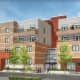 An artist's rendering of the Harrison Playhouse Lofts.