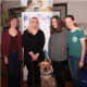 BluePath Service Dogs is looking for foster families to care for future autism service dogs (L-R) Jean Marie Trick, Jen Cavanagh (Sonny's new mom), Trick's daughters and BluePath Sonny