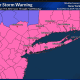 A look at counties where Winter Storm Warnings (pink) and Winter Weather Advisories (purple) are in effect.