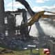 Demolition began at the Dutchess County Sheriff's Office.