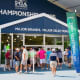 A 60,000-square-foot merchandise tent has been set up at Bethpage Black in advance of the PGA Championship.