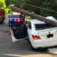 1 Hospitalized After Sedan Toppled Teaneck Telephone Pole