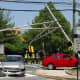 Car Takes Out Traffic Light Frame In Ridgewood Crash