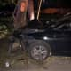 Car Crashes Into Telephone Pole In Rockland