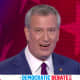 New York City Mayor Bill de Blasio during the first Democratic Party presidential debate on Wednesday, June 26.