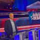 New York City Mayor Bill de Blasio at Wednesday's presidential debate in Miami.