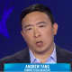 Andrew Yang, a former tech executive, speaks during Thursday's Democratic Party presidential debate.