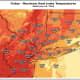 A look at projected maximum heat index temperatures for Friday, July 19.