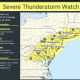 Severe Thunderstorm Watch Issued For Area: Tornadoes, Hail Possible