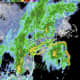 A radar image of the region showing rain and showers early Tuesday morning, June 23.