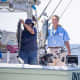 New York Gov. Andrew Cuomo and Attorney General Letitia James his the water upstate during a fishing trip in Oswego.