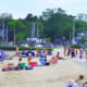 Harbor Island Park and Beach in Mamaroneck had a poor water quality year in 2018, according to Save the Sound.