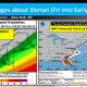 Parts of the New York metropolitan area could see Tropical Storm-force winds from Dorian on Friday, Sept. 6.
