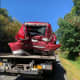 Mobile Home Hauling SUV Rear-Ended By Tractor-Trailer On I-84