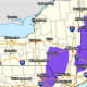 A look at areas (in purple) where Winter Weather Advisories are in effect overnight.