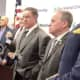Patrick Brosan and Rockland County Executive Ed Day announce extra coverage for the Hasidic community in Monsey.