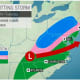 A look at the storm system that will move through on Tuesday, Jan. 7.
