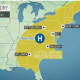 The dry weather will extend through the Northeast.
