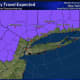 A look at areas (in purple) where a Winter Weather Advisory is now in effect from 11 p.m. Wednesday, Feb. 5 through 10 a.m. Thursday, Feb. 6.