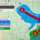 A look at the second storm scenario.